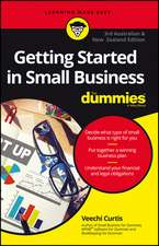 Getting Started In Small Business For Dummies – Australia and New Zealand