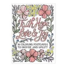 FAITH HOPE LOVE & JOY COLORING POSTCARDS