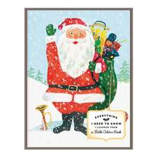 Everything I Need To Know I Learned From A Little Golden Book Santa Large Embellished Notecards