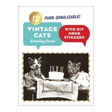 Vintage Cat Memes Diy Greeting Card Folio