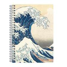 Hokusai Great Wave Wire-O Journal 6 X 8.5""