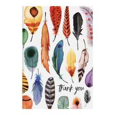 Feathers Parcel Thank You Notecards
