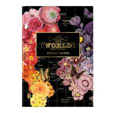 Wendy Gold Full Bloom Sticky Notes Hardcover Book