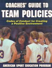 Coaches' Guide to Team Policies