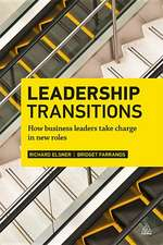 Leadership Transitions