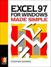 Excel 97 for Windows Made Simple