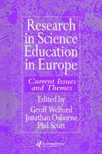 Research in Science Education in Europe