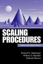 Scaling Procedures: Issues and Applications
