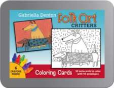 Folk Art Critters Coloring Cards