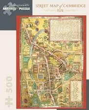 Street Map of Cambridge 500-Piece Jigsaw Puzzle