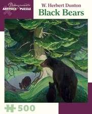 W. Herbert Dunton Black Bears 500-Piece Jigsaw Puzzle  Aa905