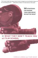 What They Don't Teach You At Film School: 161 Strategies for Making Your Own Movie No Matter What