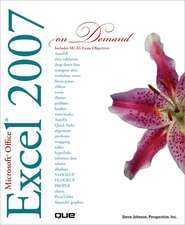 Microsoft Office Excel 2007 on Demand