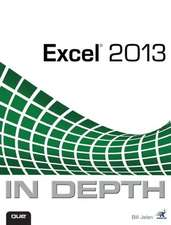 Excel 2013 in Depth:  An Unofficial Guide