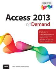 Access 2013 on Demand:  With Etsy, Ebay, and Pinterest