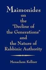 Maimonides on 'Decline of Generati