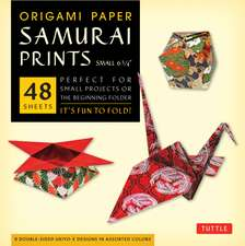 "Origami Paper - Samurai Prints - Small 6 3/4"" - 48 Sheets: Tuttle Origami Paper: High-Quality Origami Sheets Printed with 8 Different Designs: Instructions for 6 Projects Included"