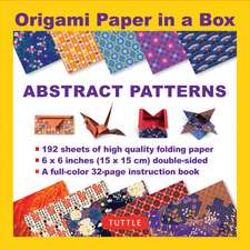 Origami Paper in a Box - Abstract Patterns: 196 Sheets of Tuttle Origami Paper: 6x6 Inch High-Quality Origami Paper Printed with 12 Different Patterns: 32-page Instructional Book of 12 Projects