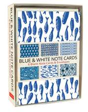 Blue & White Note Cards: 6 Blank Note Cards & Envelopes (6 x 4 inch cards in a box)