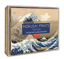 Hokusai Prints Note Cards: 12 Blank Note Cards & Envelopes (6 x 4 inch cards in a box)