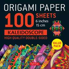 """Origami Paper 100 sheets Kaleidoscope 6"""" (15 cm): Tuttle Origami Paper: High-Quality Double-Sided Origami Sheets Printed with 12 Different Patterns: Instructions for 6 Projects Included"""
