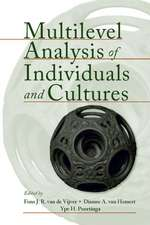 Multilevel Analysis of Individuals and Cultures