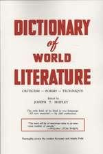 Dictionary of World Literature