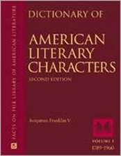 """Dictionary of American Literary Characters: """""""""""
