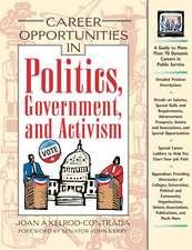 Axelrod-Contrada, J:  Career Opportunities in Politics, Gove