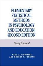 Elementary Statistical Methods in Psychology