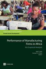 Performance of Manufacturing Firms in Africa:  An Empirical Analysis