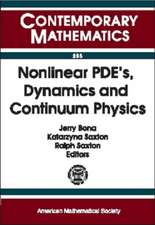 Nonlinear PDEs, Dynamics and Continuum Physics