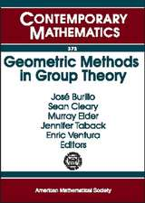 Geometric Methods in Group Theory