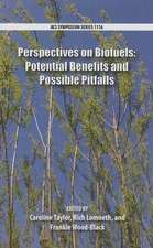 Perspectives on Biofuels: Potential Benefits and Possible Pitfall
