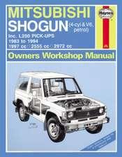 Mitsubishi Shogun & L200 Pick-Ups Service and Repair Manual