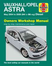 Vauxhall/Opel Astra (04-08) Service and Repair Manual