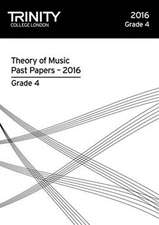 Theory of Music Past Papers 2016 - Grade 4