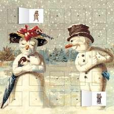 Mr & Mrs Snowman advent calendar (with stickers)