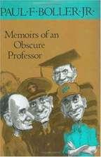 Memoirs of an Obscure Professor
