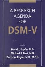 A Research Agenda for Dsm V