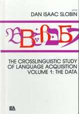 The Crosslinguistic Study of Language Acquisition