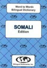 English-Somali & Somali-English Word-to-Word Dictionary