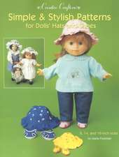 Simple & Stylish Patterns for Dolls' Hats and Shoes