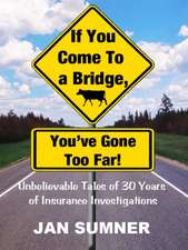 If You Come to a Bridge - You've Gone Too Far