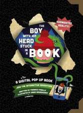 Boy with His Head Stuck in a Book