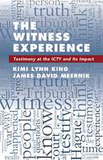 The Witness Experience: Testimony at the ICTY and Its Impact