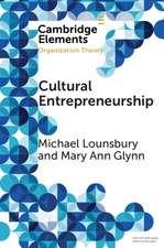 Cultural Entrepreneurship