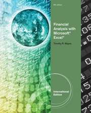 Financial Analysis with Microsoft¿ Excel¿, International Edition