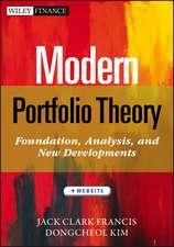 Modern Portfolio Theory: Foundations, Analysis, and New Developments + Website