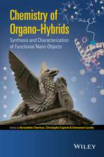 Chemistry of Organo–hybrids: Synthesis and Characterization of Functional Nano–Objects